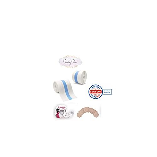 SandySkin® | 3in1 Transparentes Busen-Tape + Gratis Nippel-Pads + Gratis Doppelseitiges Klebeband | Boob Tape, Body Tape, Push-Up, Lifting | Push-UP | Rückenfreies Kleid Abendkleid