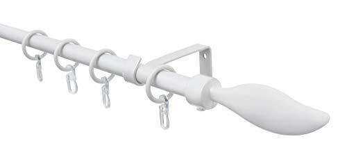 Gardinia - Barra de cortina (aluminio, 130-240 cm), color blanco