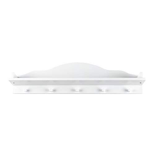 Puckdaddy Frederik wandplank - 80x20x14 cm, decoratieve plank met wolkendesign in wit, kinderkamerplank bijpassend Babycommode, wanddecoratie voor babykamer