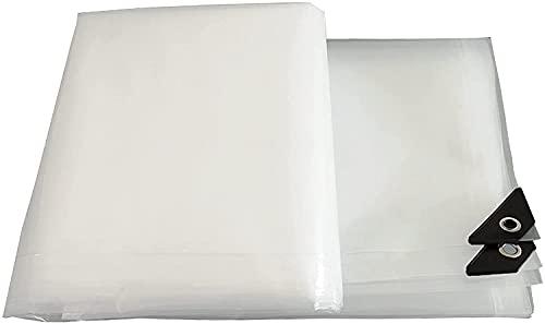HYHMJ-Lona 0,12Mm Grueso Balcón Lona De Protección Resistencia Al Desgarro PVC Transparente Cubierta Impermeable, Por Mueble De Jardín, Piscina, Coche, Cámping, Residencia Canina,Clear,1x10m