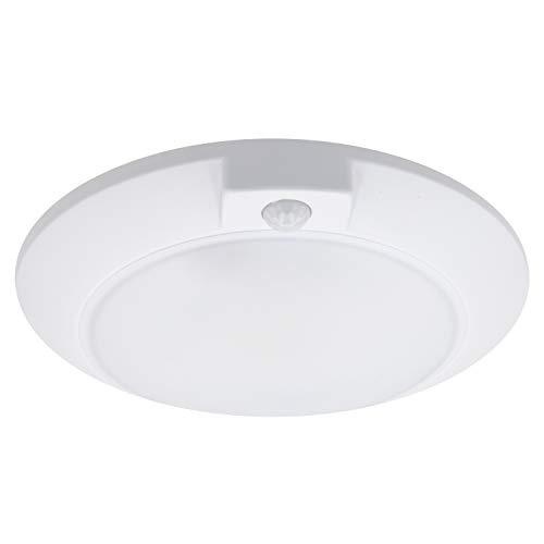 Maxxima 6 in. Round, Motion Sensor LED Ceiling Mount Light Fixture, 3000K Warm White, 600 Lumens Closet Light