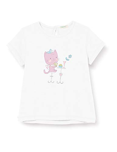 United Colors of Benetton T-Shirt Camiseta de Tirantes, Blanco (Bianco 101), 74 para Bebés