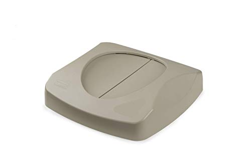%19 OFF! Rubbermaid Commercial Products Untouchable Trash/Recycling Swing Lid, Beige (FG268988BEIG)