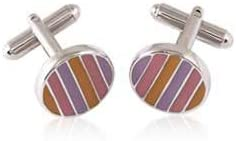 Visol New Age Style Multi Color Enamel Cufflinks