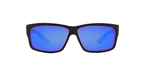 Costa Del Mar Men's Cut Polarized Rectangular Sunglasses, Blackout/Grey...