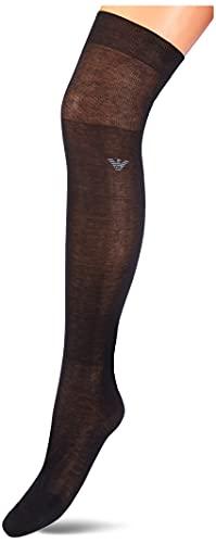 Emporio Armani Underwear Mens Long Socks Monopack Dressy, Black, L