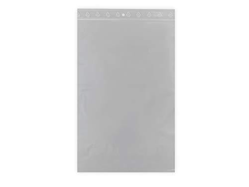100 sachets à fermeture zip format 270 x 380 mm 27 x 38 cm pochette zip qualité alimentaire aux normes CEE 50 microns grand sachet congélation sac emballage solide recyclable avec trou de suspension