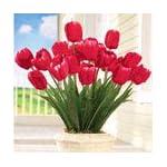 collections-etc-springtime-tulip-bushel-artificial-maintenance-free-bouquet-bush-set-of-3-pink