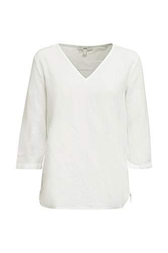 Esprit Damen 040EE1F315 Bluse, 100/WHITE, 44