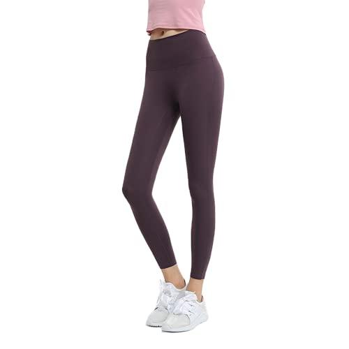 QTJY Nude Ladies Stretch Slim Soft Yoga Pants Pantalones Deportivos de Gimnasia para Mujeres Pantalones de Fitness de Levantamiento de glúteos de Cintura Alta I XL