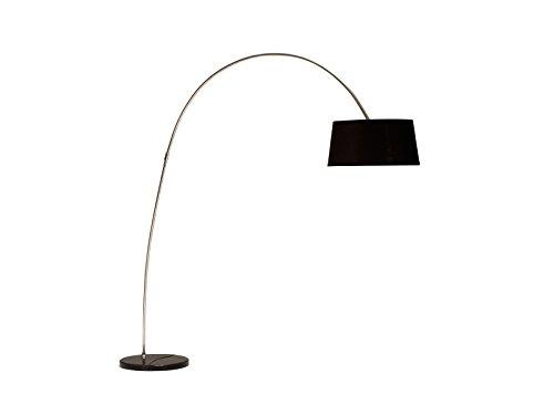 Invicta Interior 10013584 Design Stehleuchte FORMA Schwarz Gold Bogenlampe Bogenleuchte
