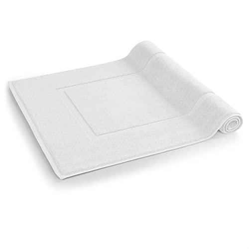 Blumtal Alfombrilla de baño - Alfombra de baño Suave, 100% algodón, Certificado Oeko-Tex, Blanco, 51x79 cm