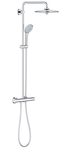Grohe 27296002 Euphoria 260 - Sistema de ducha con termostato, alcachofa de 260mm con treschorros y teleducha de 110mm con treschorros