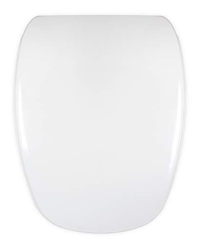 Tapa WC Compatible DIANA GALA - Bisagra Ajustable - Fácil Instalación y Limpieza - Asiento Inodoro Muy Resistente - Blanco - 42 x 34 x 4,5 cm