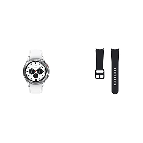 SAMSUNG Galaxy Watch 4 Classic 46mm Smartwatch with ECG Monitor Tracker LTE US Version, Silver with...