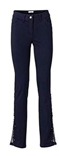 koralle-weiß Linea Tesini Damen Designer-Maxikleid
