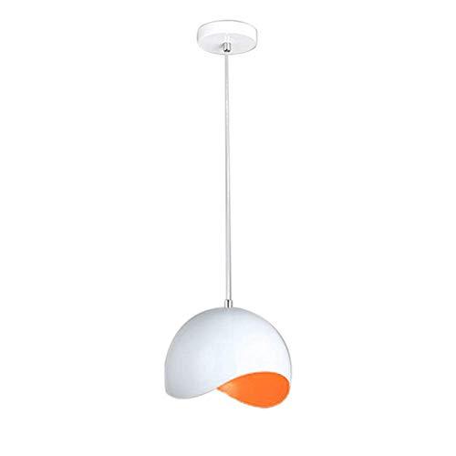 Dengofng Colgante Colgante Iluminación Moderna Simple Lámpara Colgante para Dormitorio Lámpara Colgante Instalación Lámpara de Techo para Bar Contador Super Bright - Naranja, Free Size