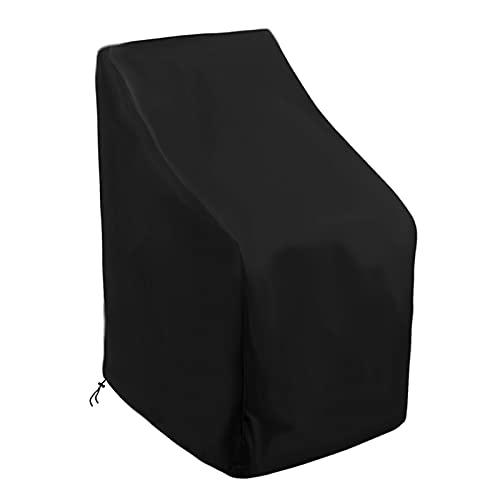 YSJJWDV Copertura per Mobili Copertura Antipolvere di Nuovi sedie 1 PC Copertura per Sedia impilabile all'aperto Impermeabile di Alta qualità (Color : Black, Specification : 70-79-70 102cm)