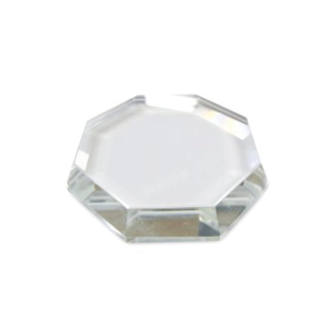 ベット持続する理想的には[まつげエクステ]クリスタルグループレート〈ガラス製〉八角形 55mm