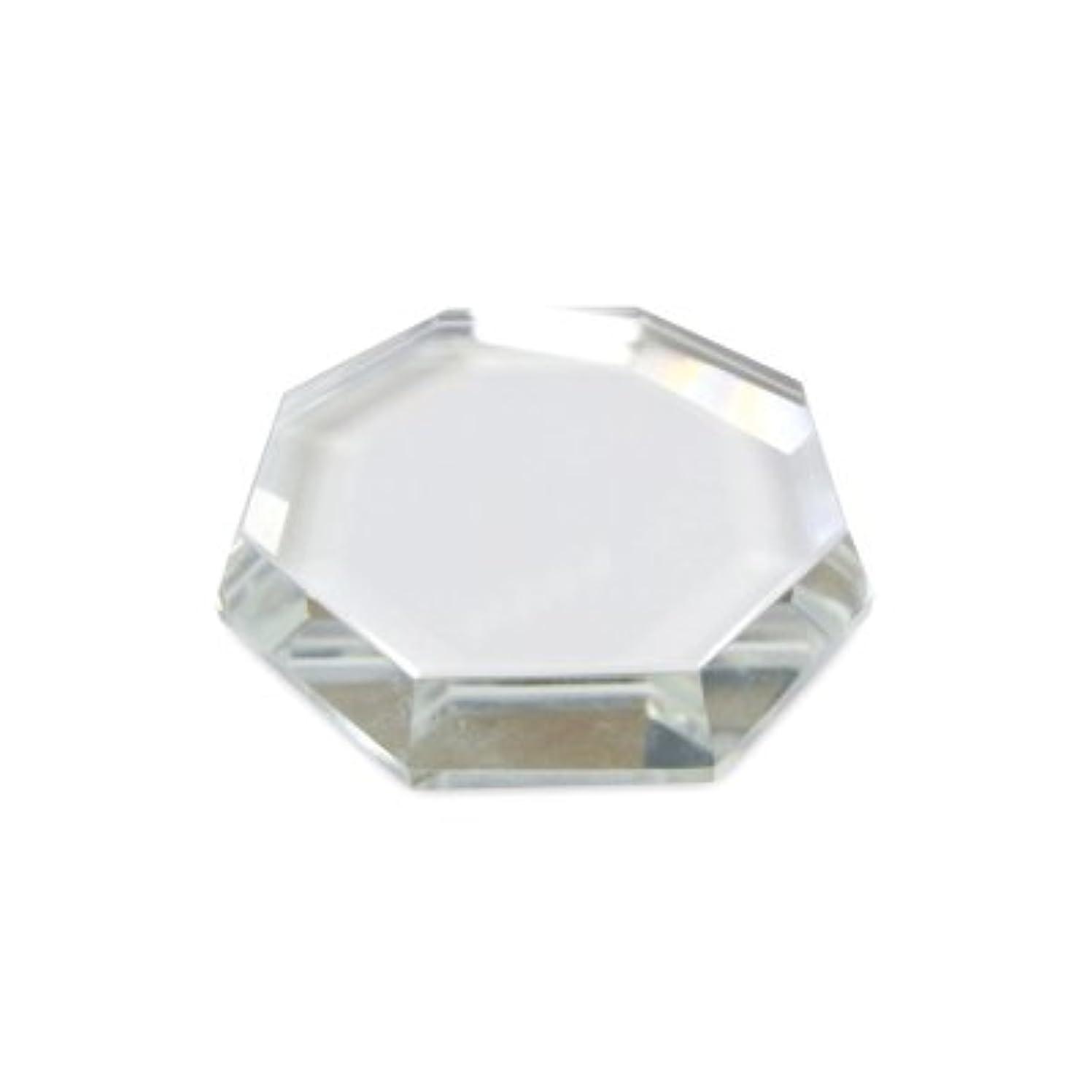 強要ほとんどない割り当て[まつげエクステ]クリスタルグループレート〈ガラス製〉八角形 55mm