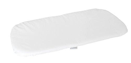 Vizaro - Sábana Bajera para Colchón de Capazo de Carrito de Bebé 70-80x30-35cm - 100% Algodón - Hecho UE, OekoTex - Bordado Blanco