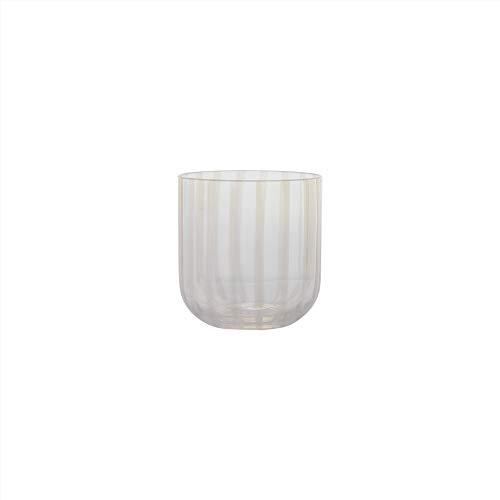 OYOY Living Design - Mizu Glass - Juego de 2 vasos de agua, vasos de postre, aprox. 250 ml, soplados a mano, aptos para lavavajillas