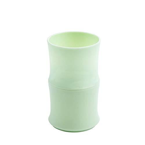XVXFZEG Sencilla de bambú plástico Lavado Baño Copa Vaso Copa irrompible Dental Enjuague Copa, Cepillo de Dientes Organizador for el Adolescente admiten niños Tazas de consumición del hogar, Tazas de