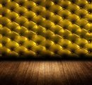 5x7ft Vinyl Goud Geel Hoofdbord Nachtkastje Fotografie Studio Achtergrond