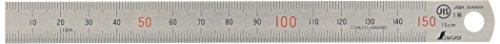 シンワ測定(Shinwa Sokutei) 直尺 ステン 15cm JIS1級 赤数字入 14001