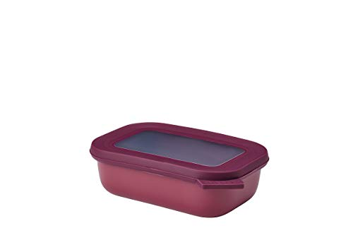 Mepal Multischüssel Cirqula rechteckig 500 ml Nordic Berry – Frischhaltedose – Aufbewahrungsbox – stapelbar – spülmaschinenfest, Polypropyleen