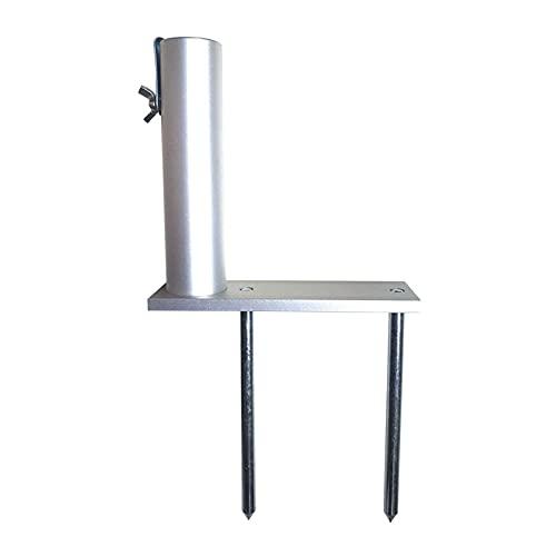 Ulapithi Soporte para sombrilla de patio de metal, resistente al agua, para uso en el suelo