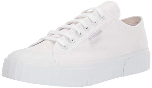 Superga Women's 2630 COTU Sneaker, Total White, 39 M EU (8 US)