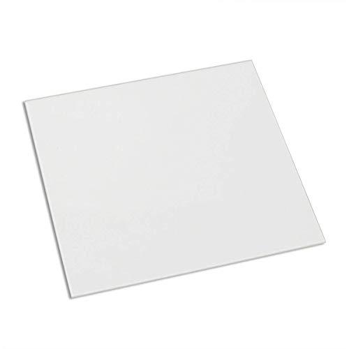 Placa de construcción de vidrio borosilicato de 210 mm x 200 mm x 3 mm para impresoras 3D, vidrio perfectamente plano con bordes pulidos