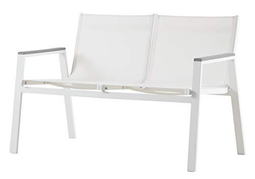 Sofá 2 plazas Aluminio para Exterior. 1ª Calidad. Mod. Inca. 125x73x82cm