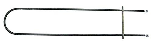 Cuppone Heizkörper für Pizzaofen 600W 230V Länge 567mm Breite 130mm Anschluss M5 Anschlusslänge 132mm Befestigung Rechteckflansch