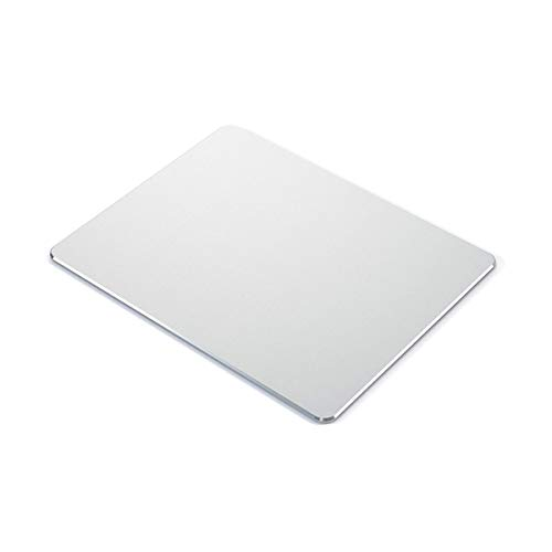 Metal Mouse pad mat,Aluminum Alloy Mouse Pads, Double-Sided,Waterproof,Smooth,Computer Mouse pad, Suitable for Gaming Office Home Personal Use Medium 8.7'x7.0' (Small Silver)
