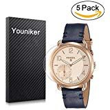 Youniker 5 Pack Fossil Q Tailor Screen Protector, Fossil Q Tailor Screen Protector Foils for Fossil Hybrid Smartwatch Crystal Clear HD, Anti-Scratch, Anti-Fingerprint,Bubble Free Film