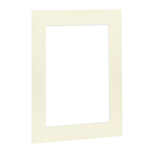 Passepartout Elfenbein Beige Creme in 40x50 cm Außenmaß mit Ausschnitt für Bildgröße 30x40 cm