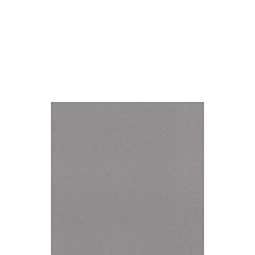 Duni Cocktail-Servietten 3lagig Zelltuch Uni granite grey, 24 x 24 cm, 250 Stück