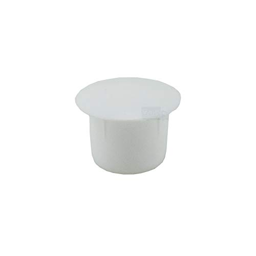 20 Abdeckkappen 10 mm IROX weiß Kunststoff Kopf 14 mm Lochkappe