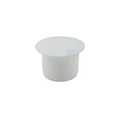20 Abdeckkappen für Bohrungen 10 mm IROX weiß Kunststoff Kopf 14 mm Kappe für Loch
