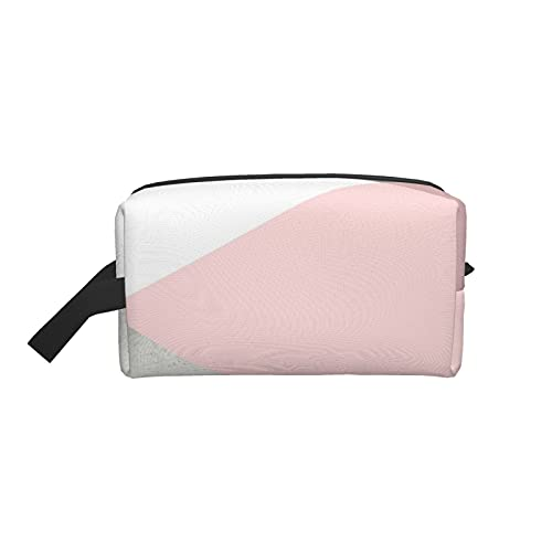 Bolsa de maquillaje de moda cosmética bolsa de viaje geometría gris rubor plata grande neceser maquillaje organizador para las mujeres