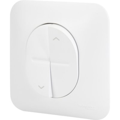 Schneider S266208 - Interruptor para persianas ovaladas