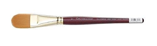 Grumbacher Goldenedge Golden Toray Oval Wash Watercolor Brush, Synthetic Bristles, Size 1