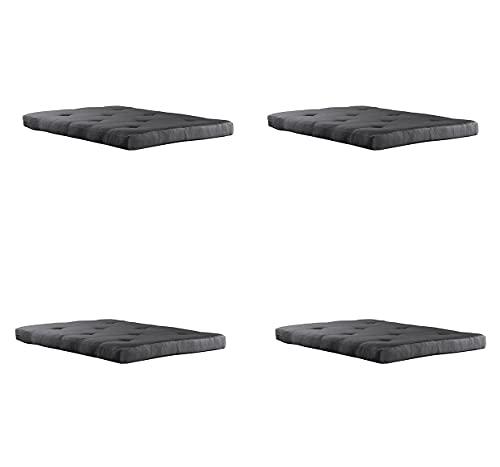 Futon Mattress 6 inch Tufted (Mattress Only) - (1, Black)