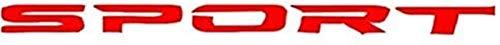 YDL Pegatinas 4 unids/Set Auto Accesorios Exterior Tipo de Deporte Coche Cuerpo Pegatina Pegatina Puerta de automóvil Rims Hub Hub Racing Pegatina Calcomanía (Size : Red)