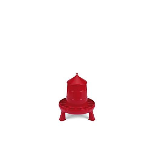 GAUN POULTRY FEEDER PLASTIC C/W LEGS RED - 4 KG - GAU0235