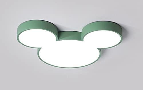 Lámpara De Techo Regulable Con Mando A Distancia Para Habitación Infantil,Plafón Led De Techo,Lámpara De Dibujos Animados Creativos Mickey Mouse C 50Cm Mickey White