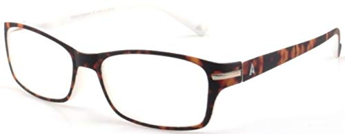 Atlantic Eyewear AE0054 Lesebrille Brillen Braun und Weiß für Männer und Frauen mit Etui (+1.00)