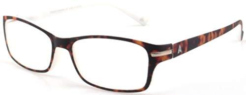 Atlantic Eyewear AE0054 Lesebrille Brillen Braun und Weiß für Männer und Frauen mit Etui (+1.50)